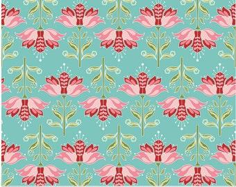 Apple Of My Eye - Blue - Floral, 1 yard Cut, Riley Blake Designs