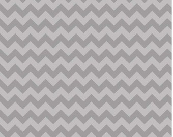 Small Chevron Tone on Tone Gray by Riley Blake Designs Fat Quarter Cut
