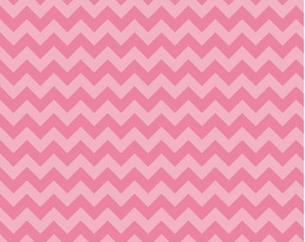 Small Chevron Tone on Tone Hot Pink by Riley Blake Designs Fat Quarter cut