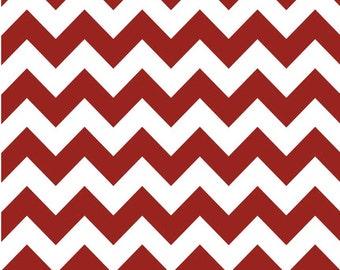 Medium Chevron Crimson  by Riley Blake Designs Fat Quarter Cut