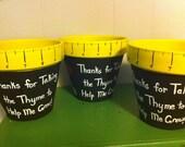 Custom Order for armstlyn - 3 Thyme flower pots