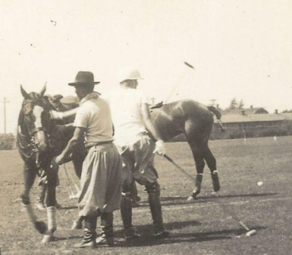 Polo Practice Candid Vintage 1920s Players And Ponies