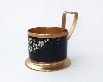 Vintage Russian Tea Glass Holder Podstakannik
