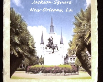 Jackson Square St. Louis Cathedral New Orleans Coaster