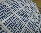16x20 French Memo Board - Navy Blue and White geometric - Unframed