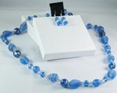 2 Piece Jewelry Set in Blue and Silver