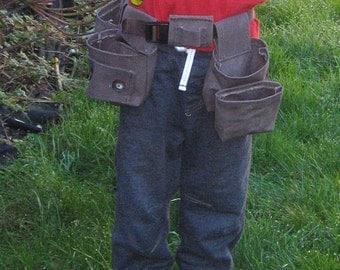 Toddler's Tool Belt PDF Pattern, Gardening or Fishing Belt Sewing Pattern, Instant Download