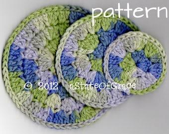 Luxurious Facial Scrubbies, Crochet PATTERN, 3 sizes, INSTANT DOWNLOAD