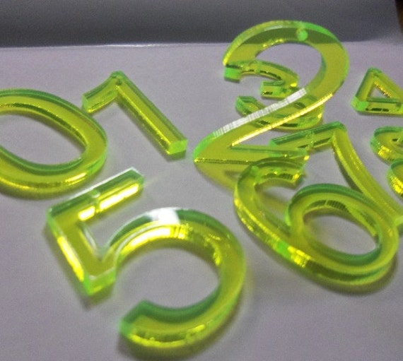 Acrylic Numbers Number Charms Numbers Laser Cut Numbers