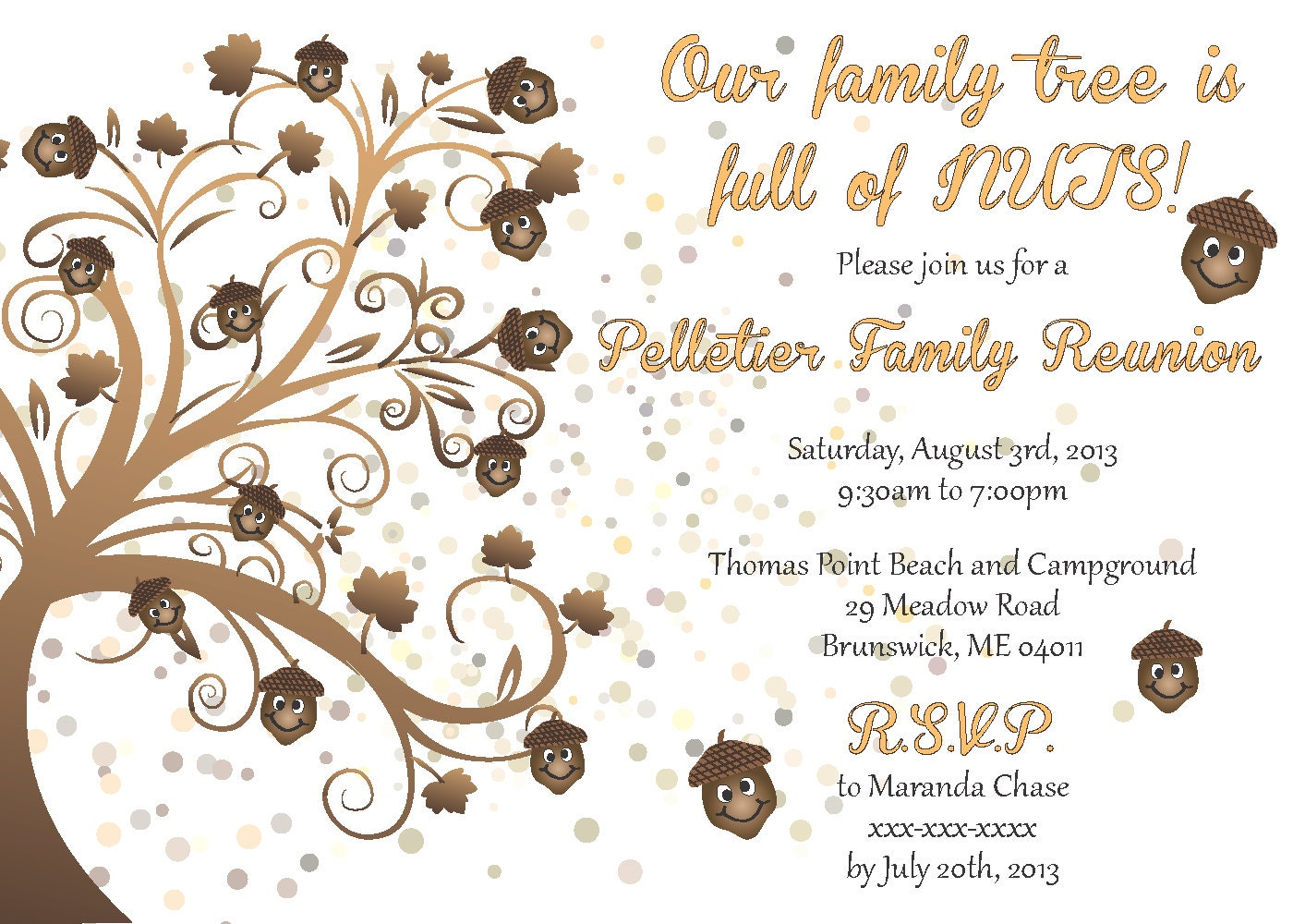 family reunion invitation by littlebopress on etsy
