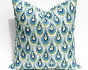 Decorative pillows  - throw pillows - pillow covers - Blue pillow - blue green pillow - Pillows - Accent Pillow - Toss pillows - Cushion