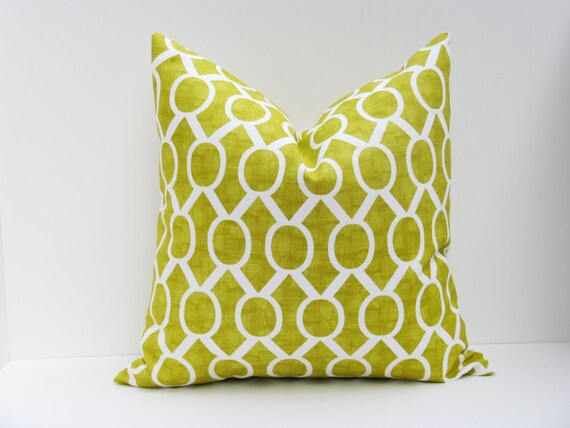Throw Pillows Linen : Decorative Throw Pillows Green Pillow Cover.Lime by EastAndNest