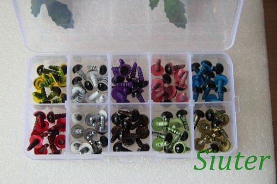 Kit of 9mm Color  Safety Eyes for crochet doll-totally 50 pairs