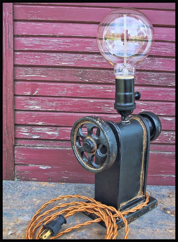 Industrial Iron Gear Lamp Steampunk Lamp Steampunk Light
