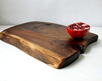 Live edge cutting board charcuterie board reclaimed black walnut eco-friendly gift