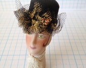 DOLLHOUSE MINIATURE - Hat Black - by Pat Tyler Leather Miniatures