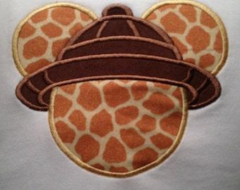 Disney Safari Animal Kingdom Applique Shirt
