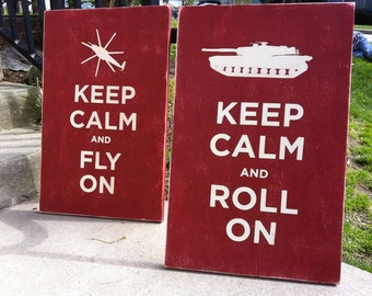 16x24 HAND PAINTED keep calm and ......