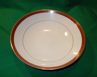 """Two (2), 7 5/8"""" Porcelain Coupe Soup Bowls, from Crown Empire, in the Empress Pattern."""