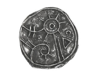Green Girl Magic Button 7/8 inch ( 23 mm ) Pewter Metal Button