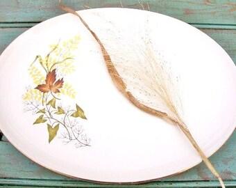 """Vintage 13"""" Oval Serving Platter in the Leaf O'gold (gold Trim) pattern Taylor Smith & Taylor China Serving Platter"""