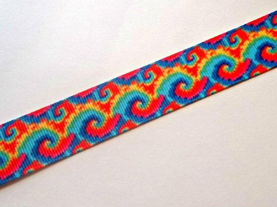 7 8 rainbow tie dye grosgrain ribbon 5 yards