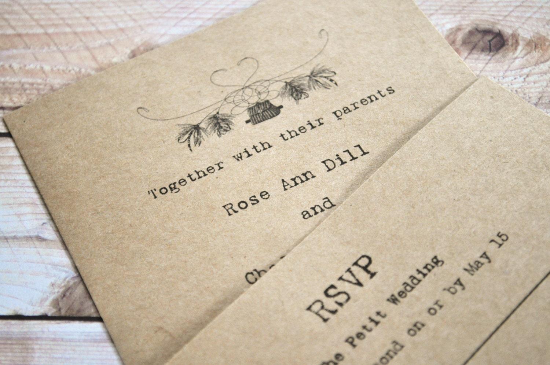 Camouflage Wedding Invitation Kits: Fishing Wedding Invitations Fly Fishing Invites Camo Wedding