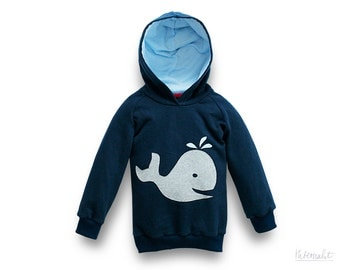 toddler boy clothes, toddler boy hoodie, toddler organic cotton hoodie, whale appliqué hoodie toddler, 100% organic cotton, dark blue