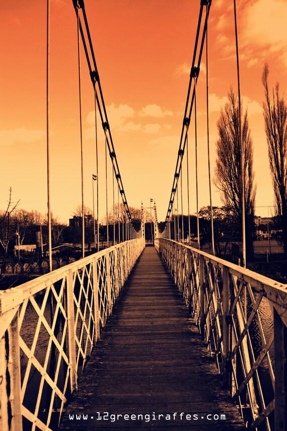 "Ireland Landscape Portrait of the Shakey Bridge 18"" x 12"""