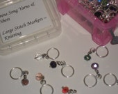 Large Opening Stitch Markers - Crystal