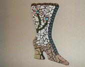 Victorian Boot Mosaic wall hanging