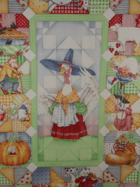 Mother Goose Nursery Rhyme Quilt Kit Baby Panel Quilt Kit