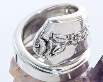 Vintage Spoon Ring - Spring Garden Silverware Spoon Ring - Spoon Ring - Spoon Jewelry - Silverware Spoon Ring - Silverware Jewelry  (mcf128)