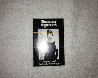 Breakfast at Tiffanys Playing Cards One Deck Vintage Retro Never Used Audrey Hepburn Moon River 1961