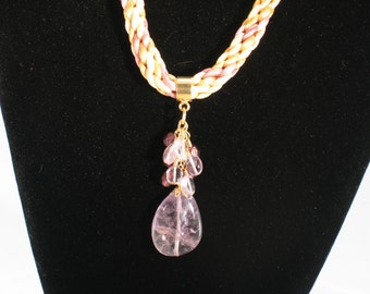 Amethyst-Citrine-Braided-Gemstone-Necklace