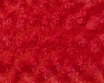 Minky Cuddle Rosebud Red 1 Yard