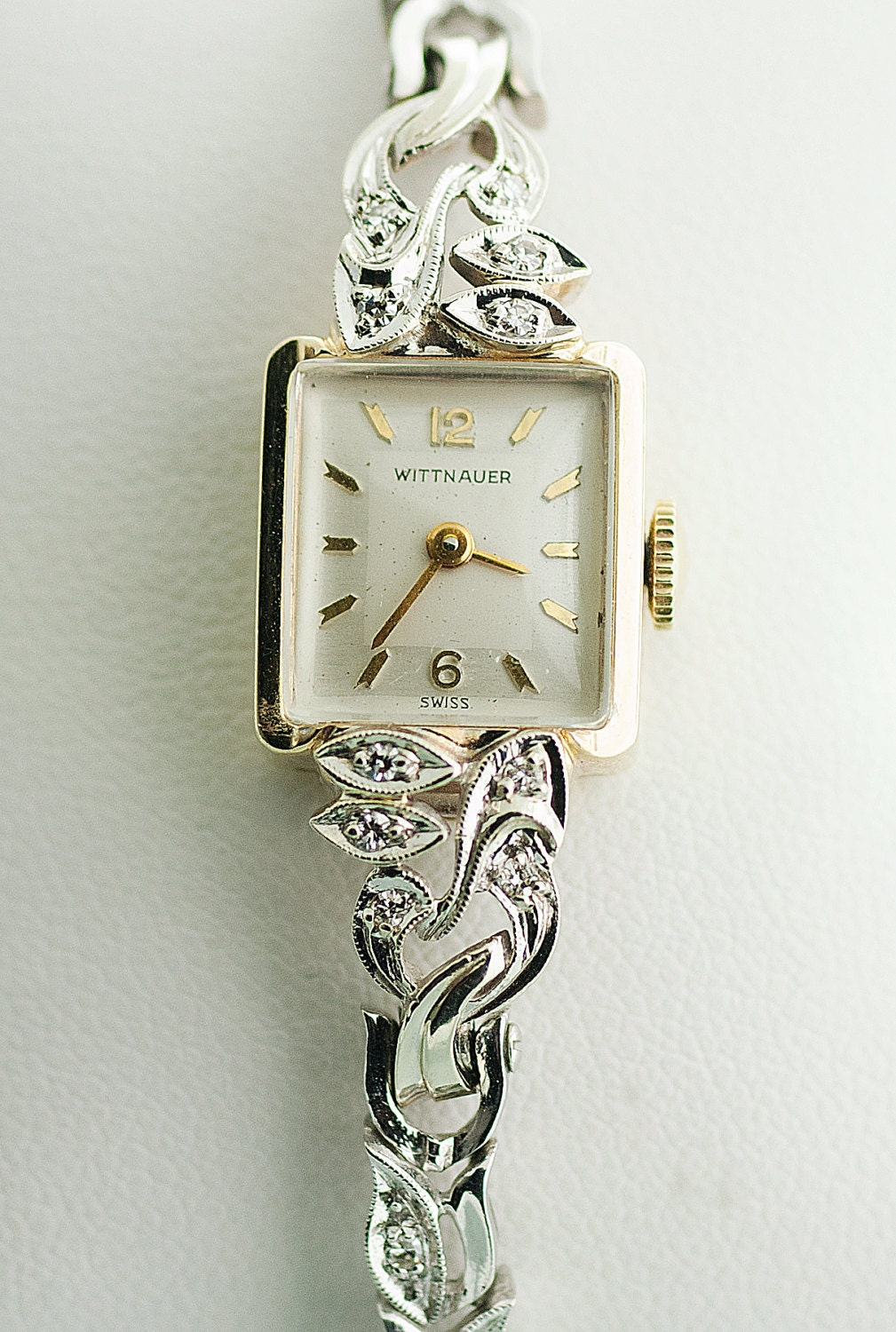 Antique wittnauer ladies diamond watch for Woman diamond watches
