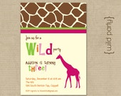 Wild Party Invite- DIY Printing