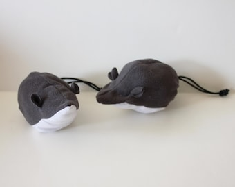 Large Grey Mouse Chalk BALL - Rock Climbing Chalk Bag