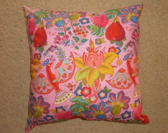 Indian print cushion cover 45cm X 45 cm 100% cotton hand made. Now discounted to ......