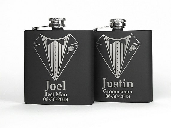 Personalized Wedding Gifts For Groomsmen: Personalized Groomsmen Gift Engraved Groomsmen Flasks Gifts