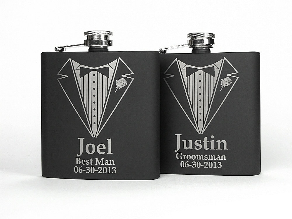 Unique Wedding Gifts For Groomsmen: Personalized Groomsmen Gift Engraved Groomsmen Flasks Gifts