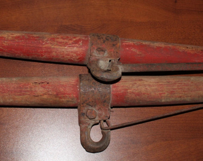 Primitive Matching set Antique Wooden Horse Yoke, Harness, wagon, Barn Fresh