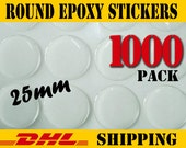 1000 pcs Round 25mm Clear Epoxy Stickers