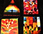 Vintage Paul Klee Art Magnets-Set of 4