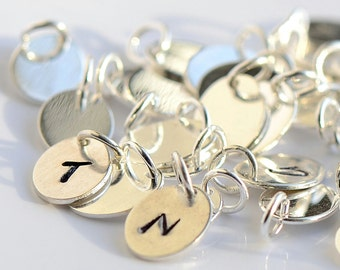 All Sterling Initial Charm, ADD ON only. Do not purchase unless with a necklace/bracelet.