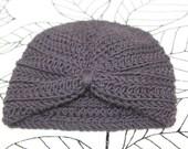 Baby Girl Chocolate Brown Crochet Turban