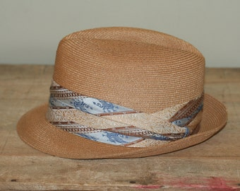 vintage fedora size 7 jc penny imported picot
