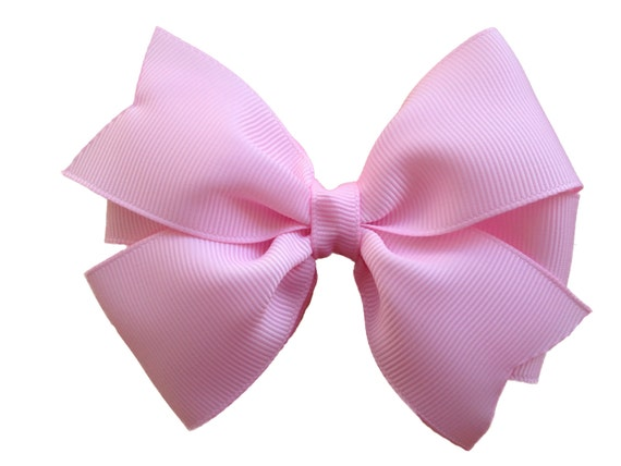 4 inch light pink hair bow - light pink bow