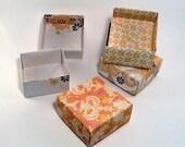 Set of 100 - Wedding Favor Box, Party Favor Box, Yellow Box, Orange Box, Yellow Wedding, Wedding Gift Box, Origami  Box, Favor Box